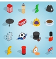 Britain set icons isometric 3d style vector image vector image