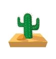 Cactus cartoon icon vector image vector image