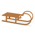 childrens wooden sleigh stock vector image