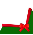 christmas bow background on white background vector image vector image