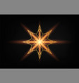 christmas shining gold snowflake glowing golden vector image vector image