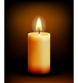 Church candle light vector image vector image