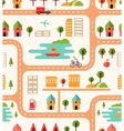 City map seamless background pattern vector image