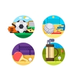 collection icons sports ball games vector image vector image