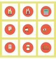 Collection of icons in flat style economic