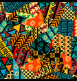 colored african patchwork background with african vector image