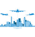 concept of airplane air craft shipping vector image vector image