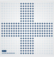 cross or plus navy blue sign icon seamless pattern vector image