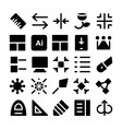 Design and Development Icons 9 vector image