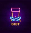 diet neon label vector image vector image