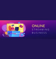 e-sport game streaming concept banner header vector image vector image