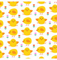 easter chick pattern on white vector image vector image
