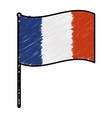 France doodle flag vector image