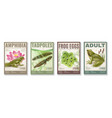 frog life cycle posters set vector image