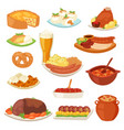 german food traditional cuisine of german vector image vector image