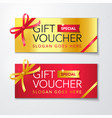 gift voucher template with clean premium pattern vector image vector image