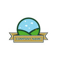 golf sport course field community icon symbol and vector image