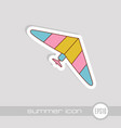 hang glider icon summer vacation vector image vector image