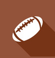 icon american football with a long shadow vector image vector image