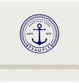 inspirational template nautical style logo vector image