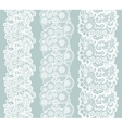 Lacy vintage trim Set of white lacy vintage vector image