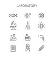 Medical and Laboratory outline icons vector image vector image