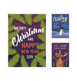 merry christmas 2019 party poster invitation vector image vector image