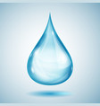 one big blue drop vector image vector image