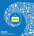 open icon Nice set of beautiful icons twisted vector image vector image