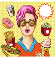 pop art fast food concept vector image vector image