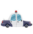 printcartoon police car of vector image
