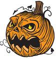 pumpkin head vector image vector image