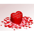 red greeting box romance gift for valentine s day vector image vector image