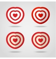 Red heart target vector image vector image