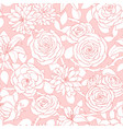 repeat pattern with lily chrysanthemum camellia vector image vector image