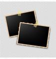 retro photo frame vector image vector image