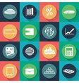 Set of business and finance icons in flat design vector image