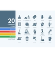 Set of cleaning icons vector image vector image