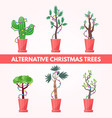 set of new year plants vector image