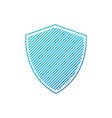simple striped shield artwork with stripes vector image vector image