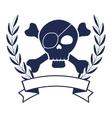 skull pirate elegant frame vector image