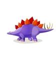 stegosaurus isolated on white genus armored vector image