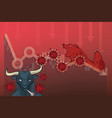 stock markets plunge from novel covid-19 virus vector image vector image
