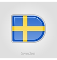 Sweden flag button vector image