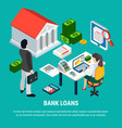taking on loan concept vector image vector image