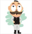 The thick mustache vector image vector image