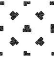three dice cubes pattern seamless black vector image vector image