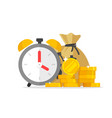 time and money savings flat vector image vector image