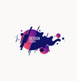 trendy abstract background composition of vector image vector image