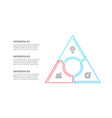 triangle divided into 3 parts steps or options vector image